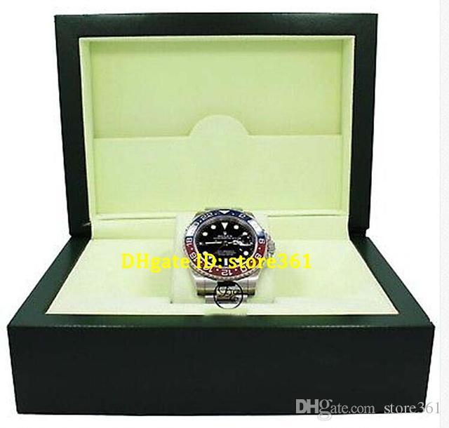 الساعات الفاخرة شهادة المربع الأصلي الثاني 116719 الأحمر الأزرق السيراميك الحافة 18 كيلو الذهب الأبيض جديد التلقائية الرجال ووتش الرجال ووتش ساعة اليد