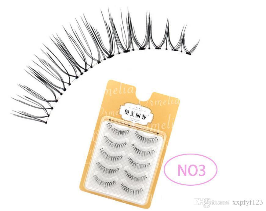 Saúde Beleza Olhos Maquiagem artesanal cílios falsos tira 3D cílios vison Natural Grosso Suave falso cílios postiços A845