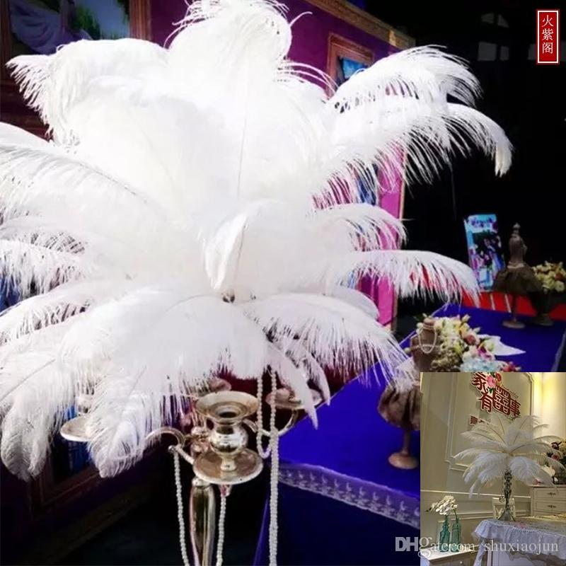 Wholesale 100pcs/lot 6-24inch(15-60cm) White ostrich feathers for Wedding centerpiece Table centerpieces Party Decoraction supply