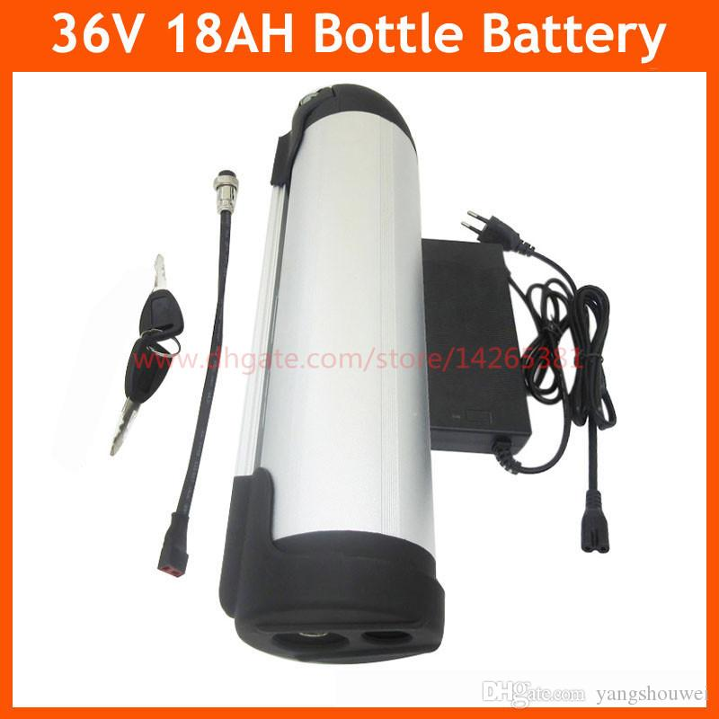 36V 18AH Water bottle battery pack 36V electric bike lithium Ebike battery with BMS 42V 2A Charger