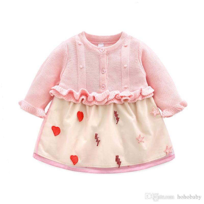 68875f5e2438f 2019 Kids Baby Dress Long Sleeve 1 Year Birthday Dress Casual Ruffles  Newborn Baby Girl Clothes Princess Tutu Dresses From Hohobaby, &Price; | ...