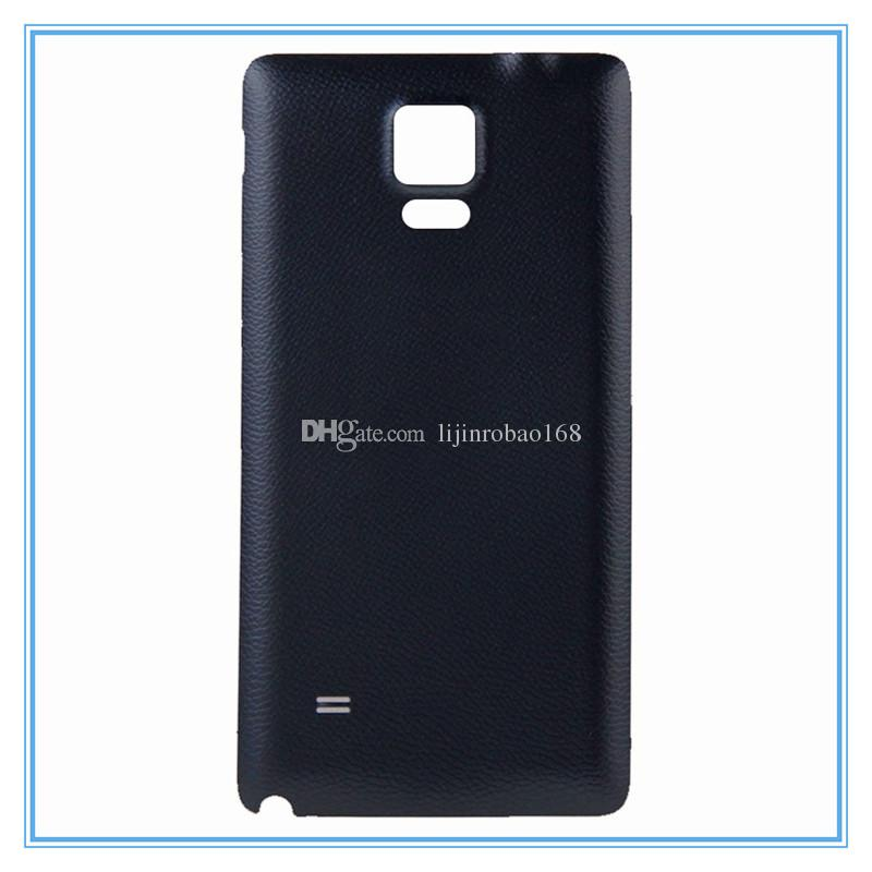 For Galaxy Note4 Back Housing Plastic Back Battery Door Replacement Black and White For Samsung Note 4 Note4 N910 N910F