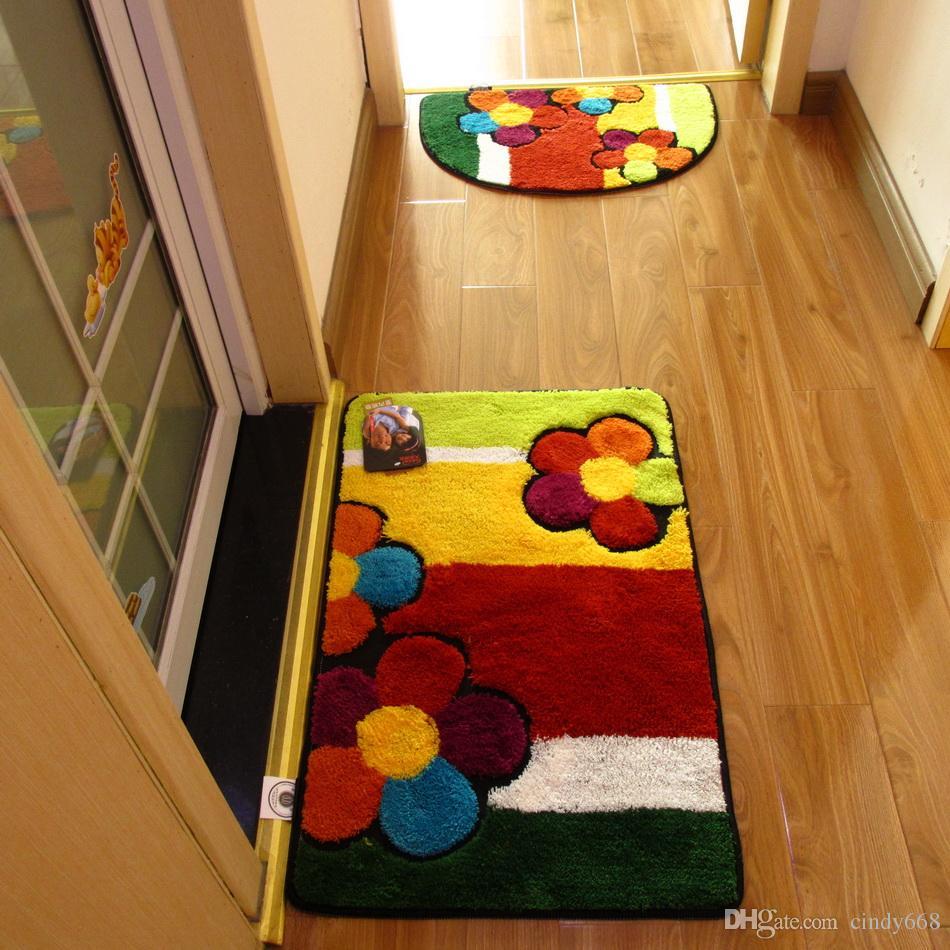 Handmade Doormat for Floor Bathroom Cheap Non-slip Bath Mats Home Decor Bathroom Mat Absorbent Slip-resistant Pad Bath Mat Rugs For Kitchen