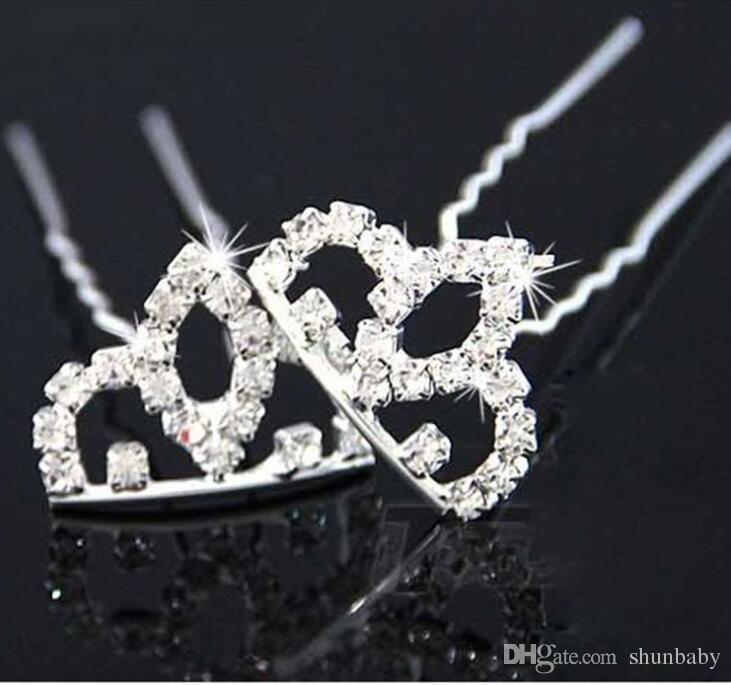 Mini Cute Crystal Rhinestone Princess Crown Hair Comb Birthday Party Tiaras For Girls Kids Hair Jewelry Accessories