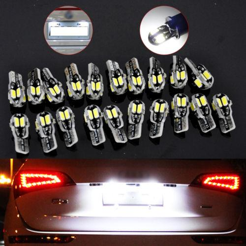 20 x Canbus T10 194 168 W5W 5730 8 LED SMD White Car Side Wedge Light Lamp Bulbs
