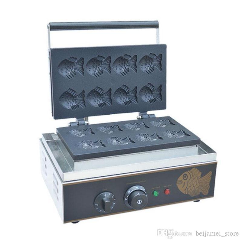 استخدام التجاري غير عصا 110 فولت 220 فولت الكهربائية 6 قطع البسيطة اليابانية taiyaki السمك الهراء آلة صانع كعكة الأسماك الصغيرة