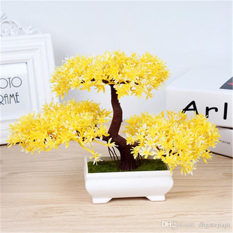Yapay Bitki Dekorasyon Solmaz Değil Ofis için Hiçbir Sulama Saksı Ev Bonsai Ağacı Mini Yaratıcı Ev Dekorasyon Sıcak Satış
