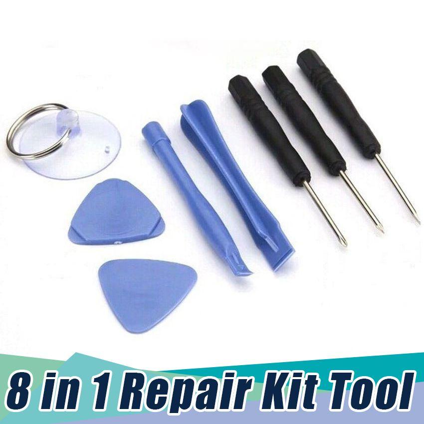 DIY 8 in 1 Öffnungssatz Satz Set Kits zerlegen Werkzeuge für iPhone X 8 7 6 für Samsung Schraubendreher