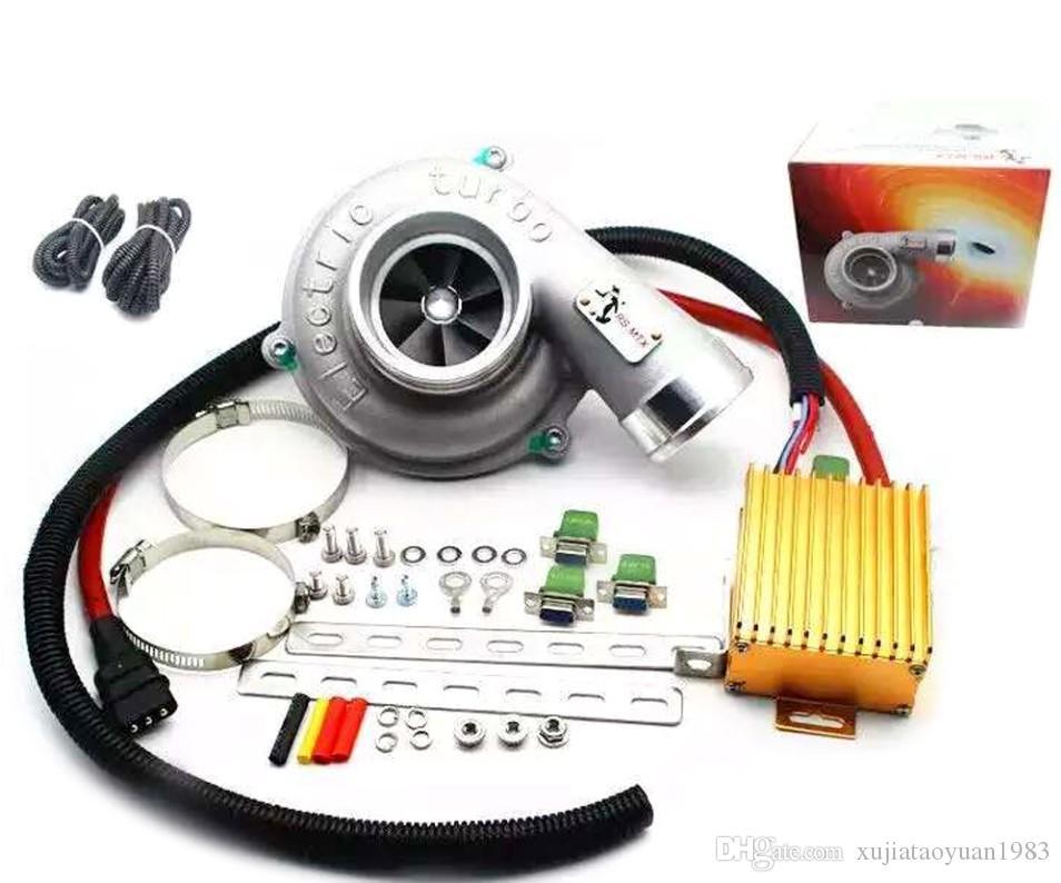 Evrensel Elektrikli Turbo SuperCharger Kiti Thrust Motosiklet Elektrikli Turboşarj Hava Filtresi Emme Tüm Araba için Hız Geliştirin