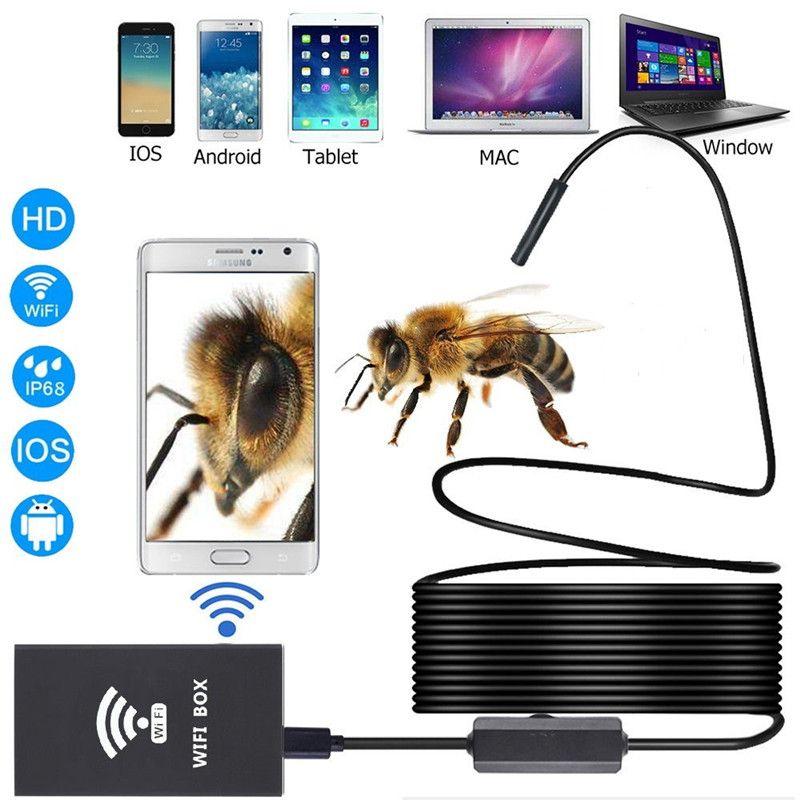 Wifi эндоскоп камеры 5,5 мм 3,5 м водонепроницаемый инспекции бороскоп камеры Android USB эндоскоп IOS Windows PC змея трубки