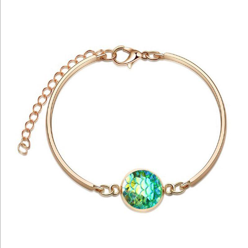 50pcs/lot Charms Crystal Chain Bracelet Vintage Unisex Dreamy Starry Star Bracelet Bangle For Women Jewelry Accessories