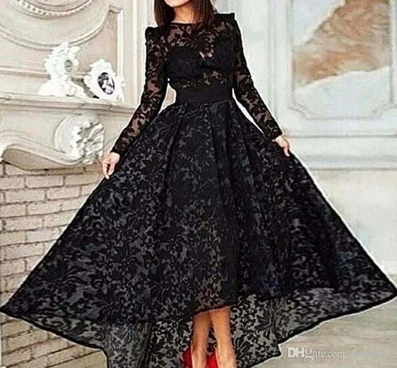 großhandel vestido 2018 schwarz lange eine linie elegante
