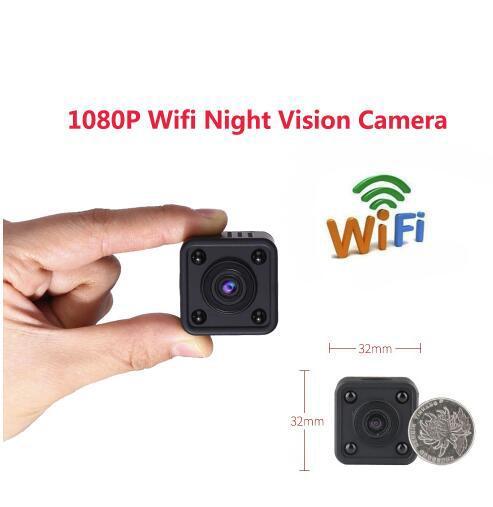 Wi-fi Sem Fio IP Mini Câmera Filmadora 1080 P HD Infravermelho Micro IR Night Vision Corpo Câmera de Detecção De Movimento Magnético Mini DV