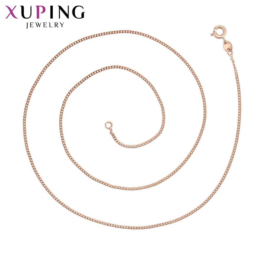 11.11 сделки Xuping ювелирные изделия личность ожерелье сладкий маленький свежий розовый золотой цвет позолоченный для женщин подарки S49,8-44740