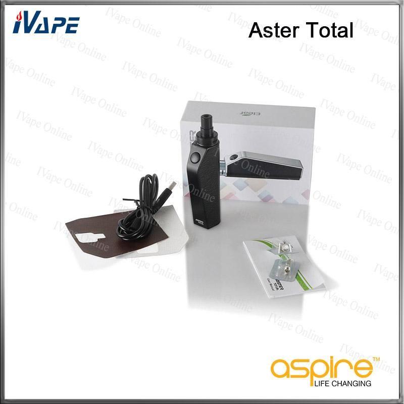 Eleaf Aster Kit Complet 25W 1600mah avec Réservoir Intermal 2ml Mode Bypass Batterie Tension Directe Kit Vaping 100% Original