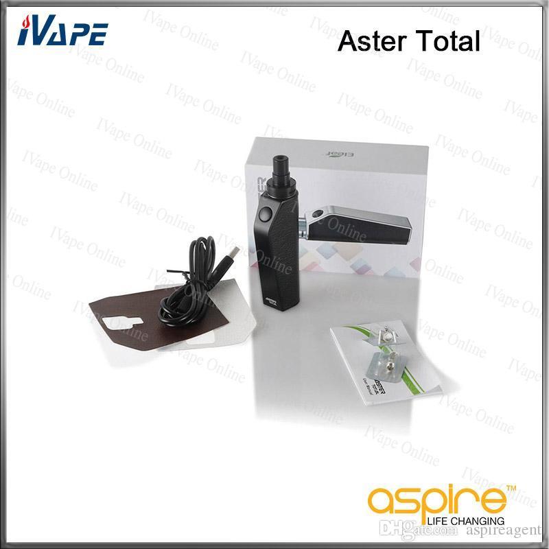 Kit Total Eleaf Aster 25 W 1600 mah com Tanque Intermal 2 ml Bypass Mode Bateria Kit Vaping de Voltagem de Saída Direta 100% Original