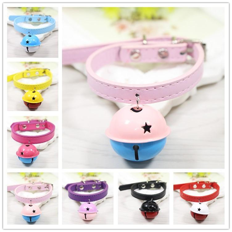 Hot Pet Supplies Paint Big Bell Collars Cute Stars Print Bells Cats And Dogs Funny Lovely Collar Puppy Anti-lost Tools
