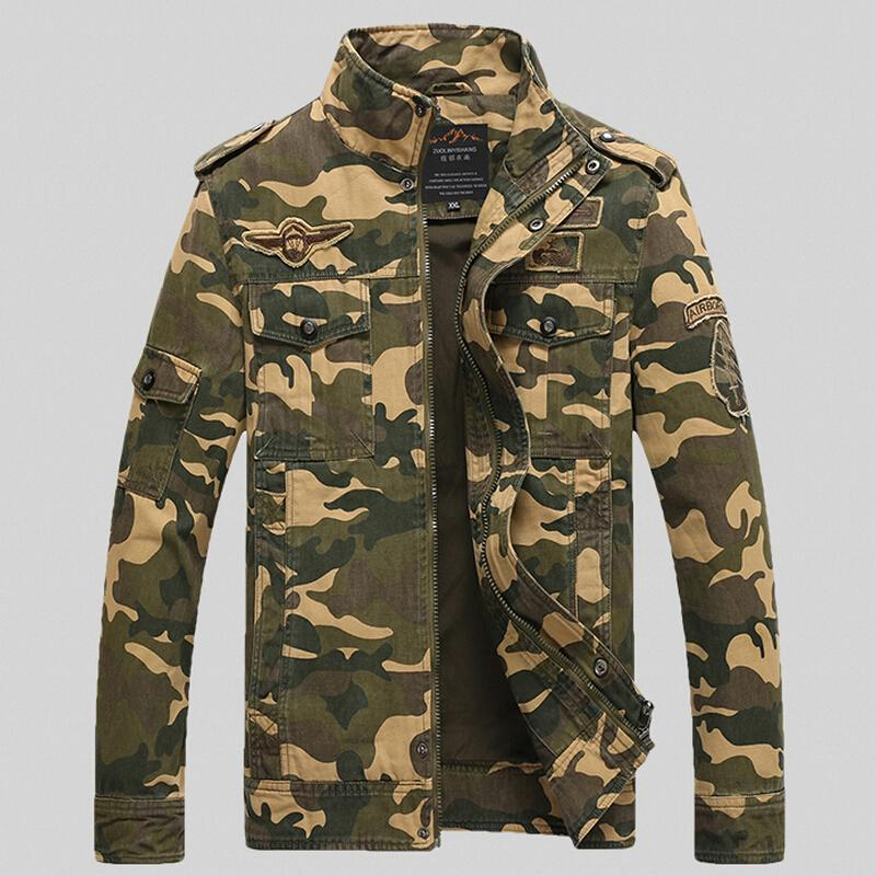 남성 자켓 가을과 겨울 위장 재킷 비행 군사 파일럿 MA1 폭격기 에어 포스 원 남성 의류 M -4xl 무료 배송