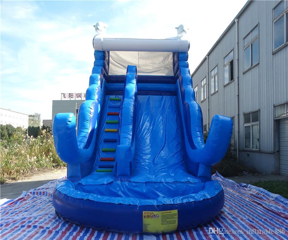 2018 fabricación populares tobogán inflable inflable toboganes de piscina al aire libre de diapositivas inflables para los niños