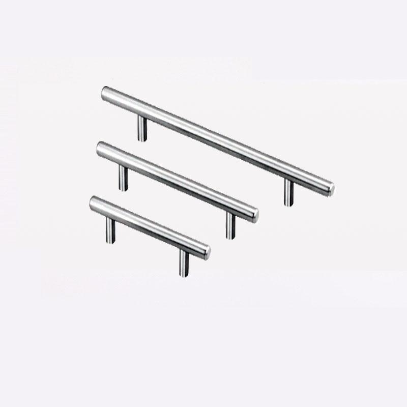 T Tipo de asas para cajón de la puerta del armario Armario de zapatos gabinete tira de acero inoxidable 3 Tamaño universal CCA