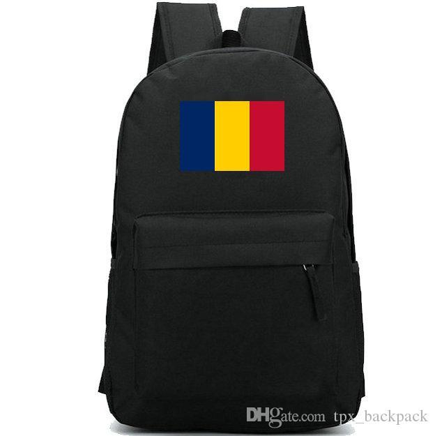 Chad Flag حقيبة ظهر أفريقيا State Day Pack National Banner حقيبة مدرسية الترفيه Packsack Rocksack الرياضة الرياضة