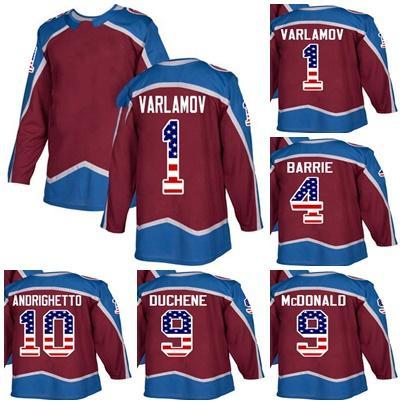 2019 Custom Mens Momens Kids Colorado Avalanche 4 Tyson Barrie 9 Lanny  McDonald 9 Matt Duchene 1 Semyon Varlamov USA Flag Ice Hockey Jerseys From  Cbssport 7352bae88e3