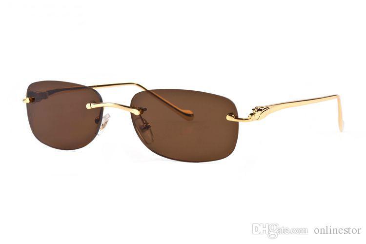 Yeni Çerçevesiz Güneş 2020 Kadınlar Moda Spor Vintage Erkek Güneş Gözlükleri Kadın Erkek Şeffaf Lens manda Düz Üst Metal Çerçeve Gözlük gözlük