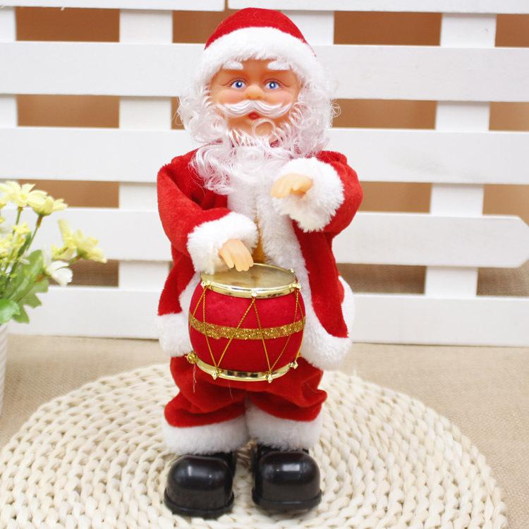 Christmas Festival Children Gifts Christmas Decor Ornaments Funny Music old man 30cm Electric Dancing Santa Claus