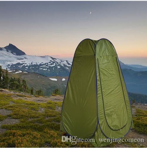 자동 팝업 샤워 목욕 실 텐트 야외 Foldable 사용 화장실 겨울 낚시 개인 공간 안티 - 바람