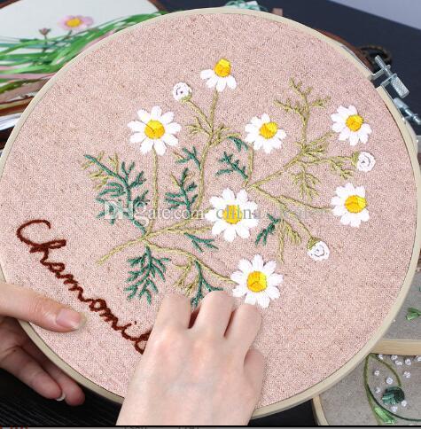 Gagqeuywe الطازجة زهرة الربيع الألوان اليد التطريز مبتدئين مادة فن بسيط لم تنته دروبشيبينغ المنتج