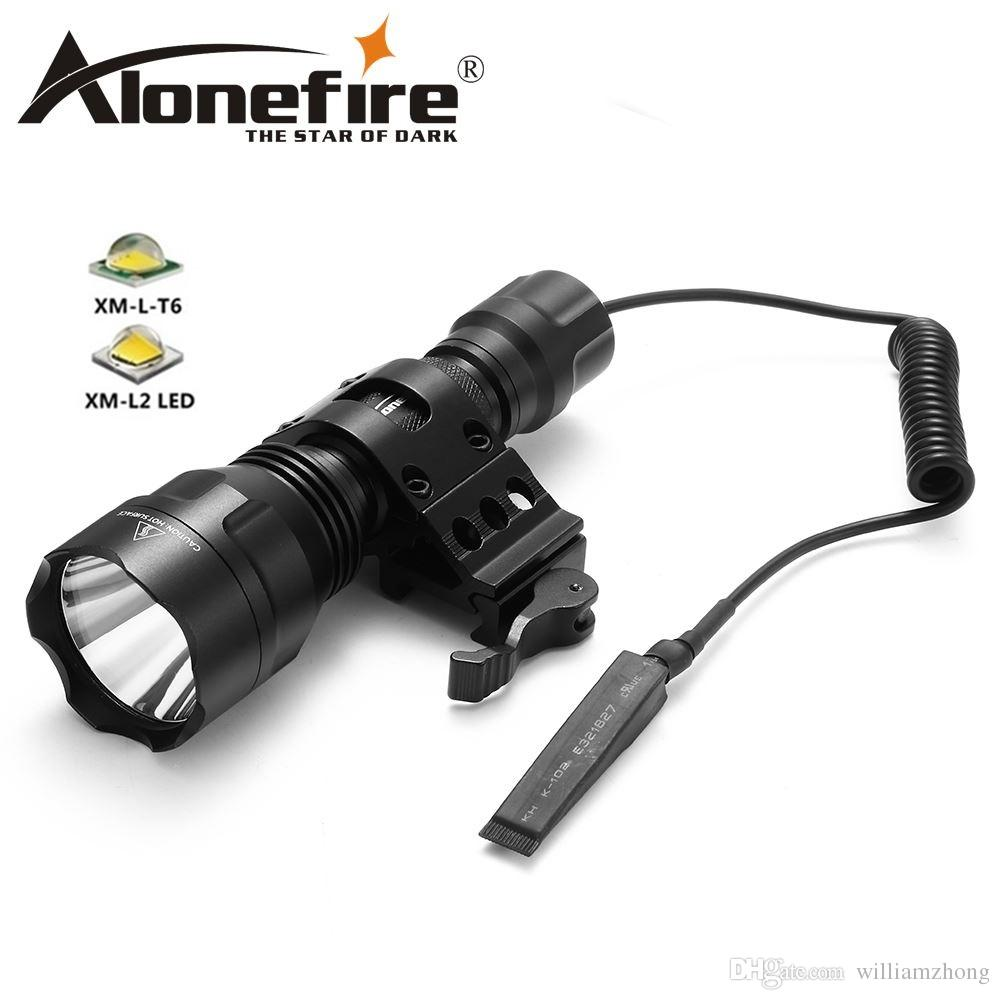 AloneFire C8s Tactical Flashlight 18650 Cree XML-T6 Powerful Flash light Portable Torch light Lamp Bike Light for Camp hunting 1x18650