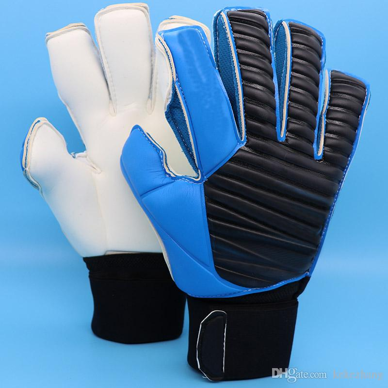 Venda quente de alta qualidade competição de treinamento luvas de goleiro luvas de futebol de futebol com fingersave 4 MM de látex saco com zíper