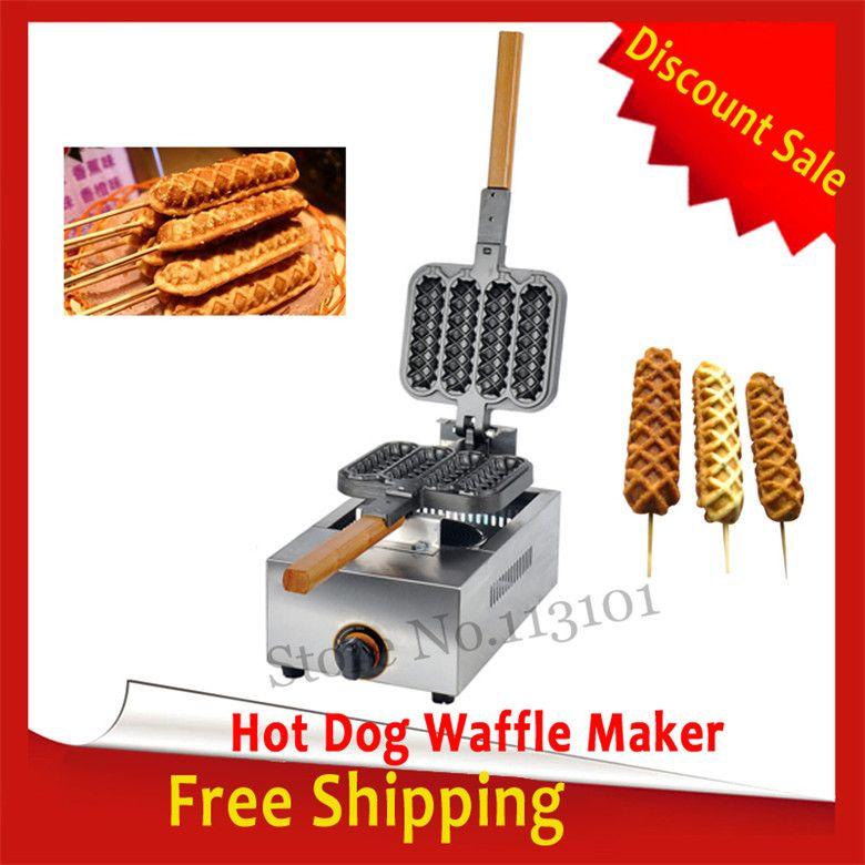 Бесплатная доставка хот-дог вафельный автомат тип газа колбаса-гриль чайник с антипригарным покрытием торт производитель LPG новый