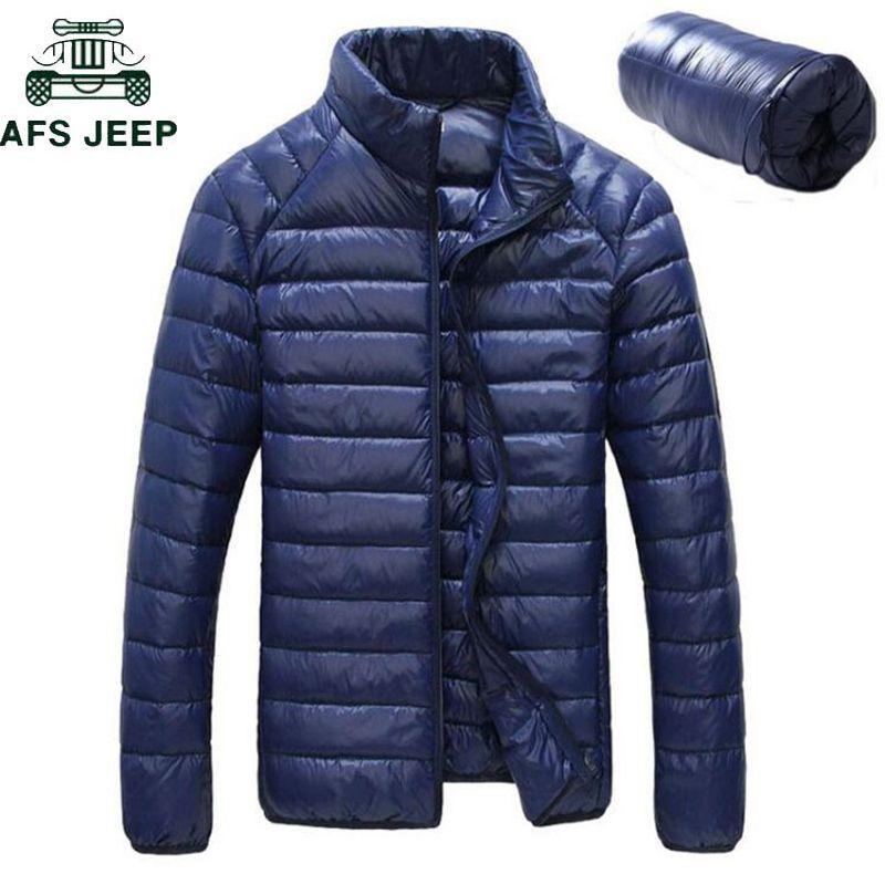 Новый 2018 мужские зимние куртки ультра легкий 90% Белый утка пуховик Chaqueta hombre водонепроницаемый повседневная сверхлегкий тонкий куртка L18101103