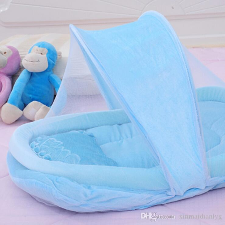 Baby Summer Tent Portable Mosquito Net Baby Travel Bed Shelters Folding Baby Cots