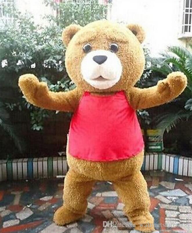 2018 High quality Teddy Bear of TED Adult Size Halloween Cartoon Mascot Costume Chrismas Fancy Dress