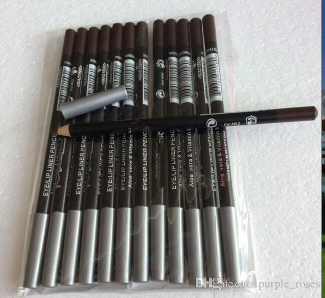 2018 nouvelle marque de maquillage professionnel Eyeliner Lipliner Crayon noir brun couleur mélangée (12 pcs / lot)