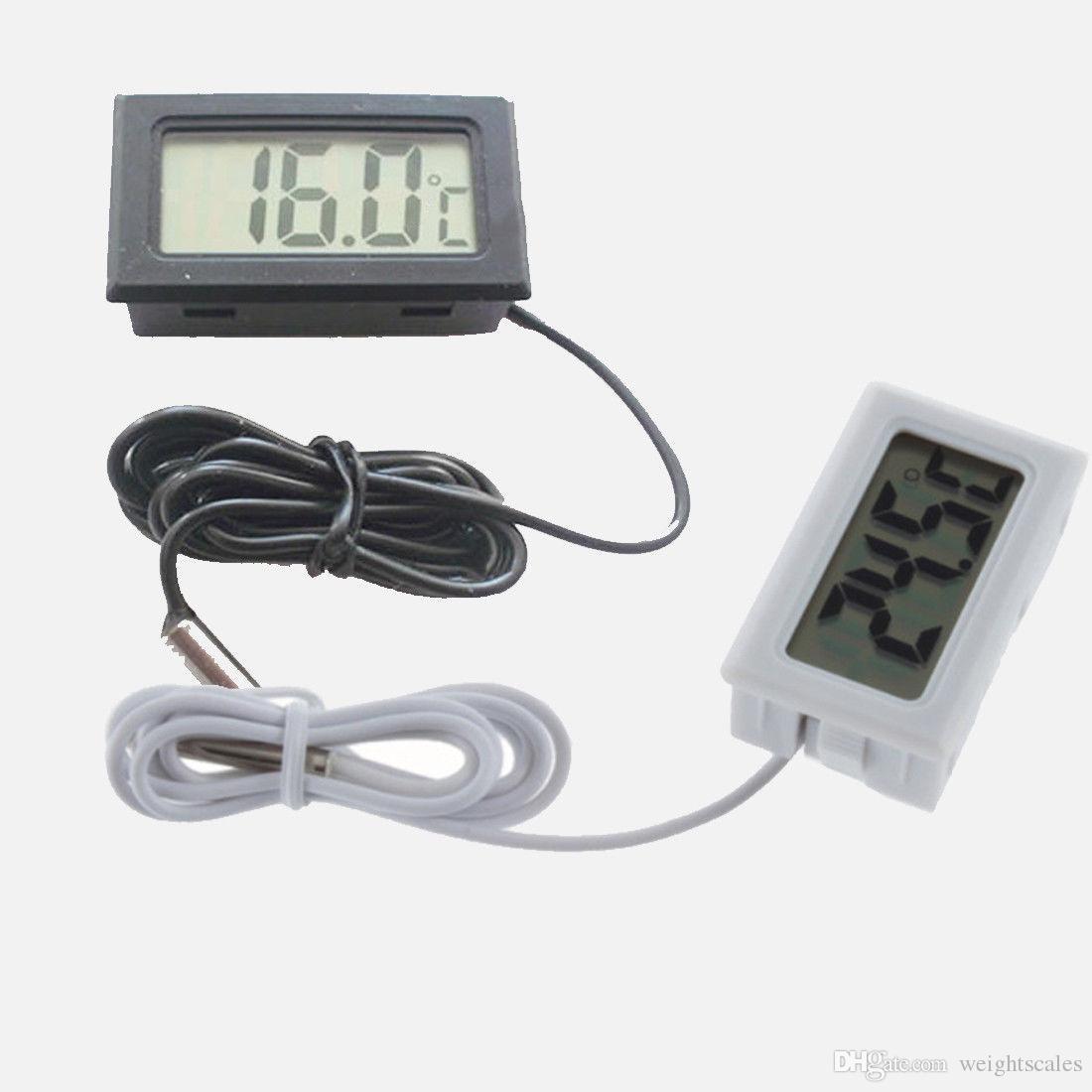 디지털 LCD 디스플레이 온도계 온도계 온도 센서 W / 프로브