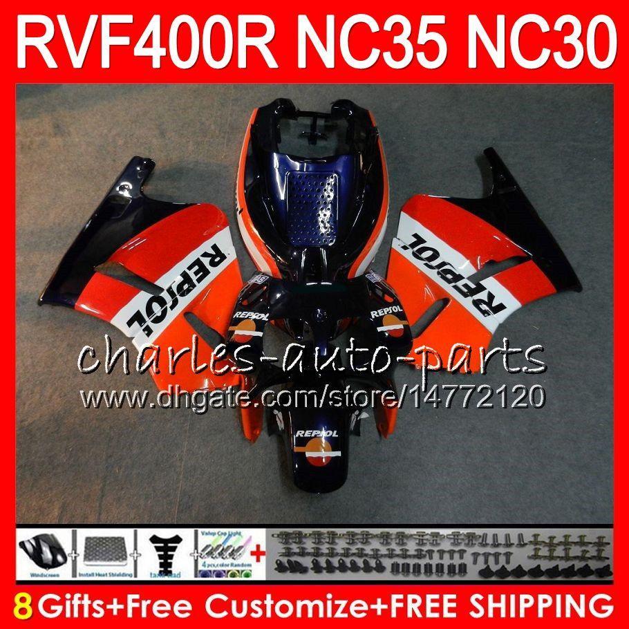 RVF400R For HONDA VFR400 R NC30 V4 VFR400R Repsol blue 89 90 91 92 93 82HM.19 RVF VFR 400 R NC35 VFR 400R 1989 1990 1991 1992 1993 Fairings