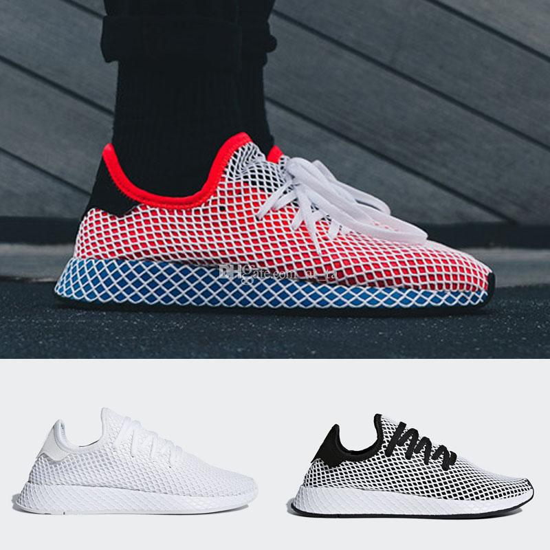 New Fashion DEERUPT RUNNER Women Mens Quality Sports Sneakers Black Red White Casual Shoes EUR 36 44 Womens Sandals Comfortable Shoes From At_ta,