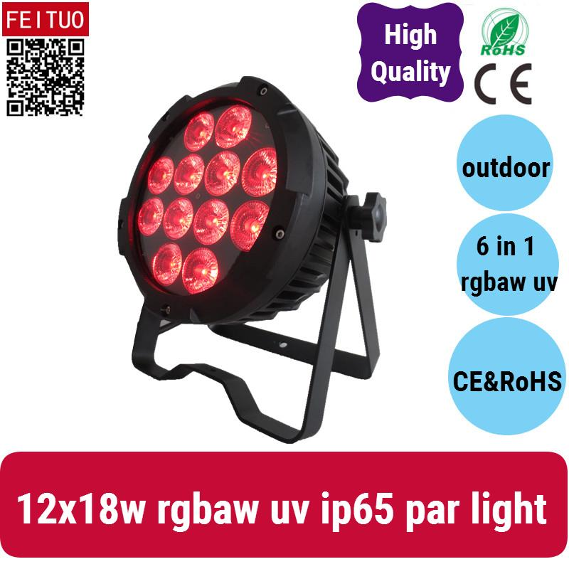 4X led 파 새로운 12 * 18w rgbwa uv 야외 파 64 led 램프