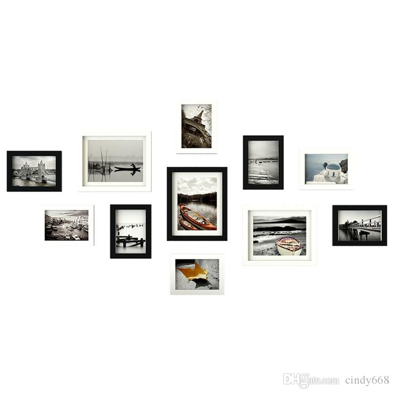 Home Room Wall Decor Combination Photo Frames Set Family Picture Holder Wood Picture Frame marco de fotos Wedding Birthday Gift