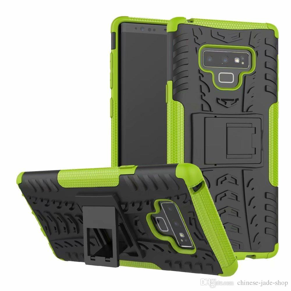 Hybrid Kickstand Impactor Rugged Heavy Duty TPU + PC Capa para Samsung Galaxy Nota 9 J3 J4 J6 J8 J7 2018 160 pcs / lote