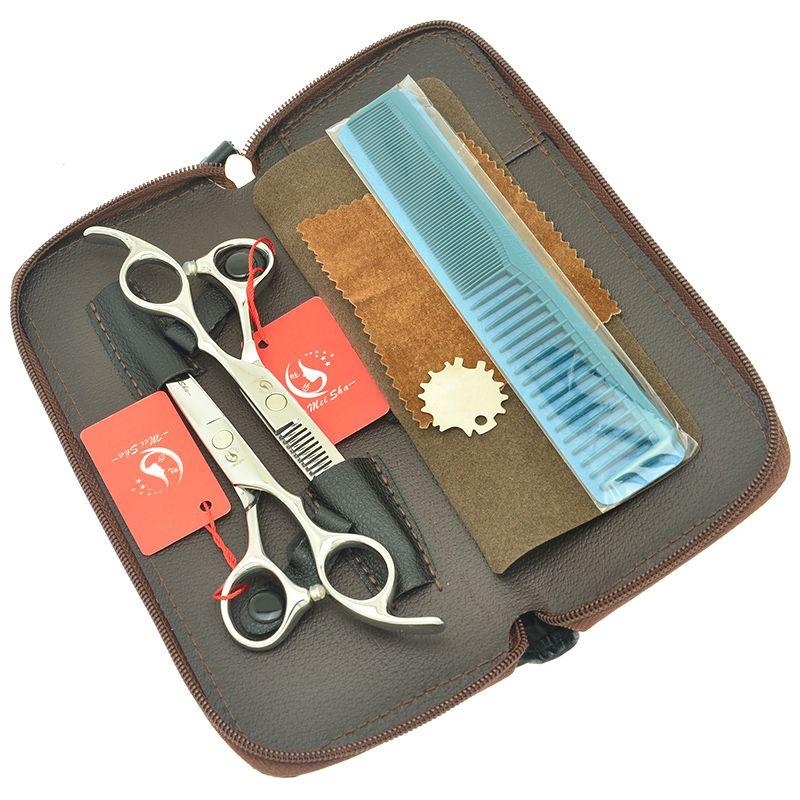 6.0 Inch Meisha Professional Salon Cutting Tesouras Thinning Shears Barbers Hairdressing Hair Scissors Set Hot Sale Hair Style Tools HA0413