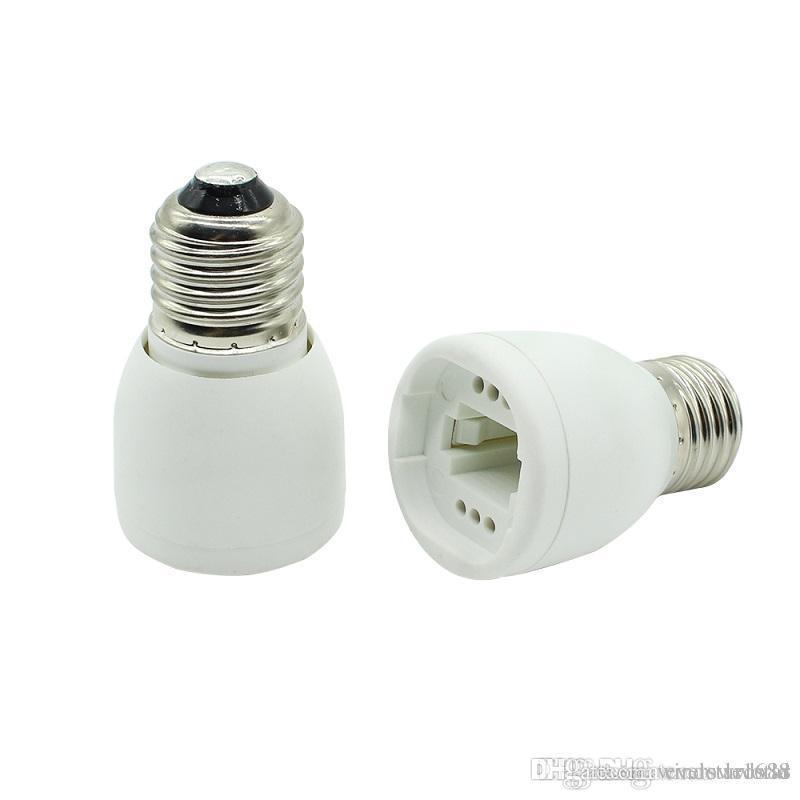 E27 إلى G24 مقبس قاعدة الصمام الهالوجين CFL ضوء لمبة مصباح محول محول مواد مضادة للحريق عالية الجودة