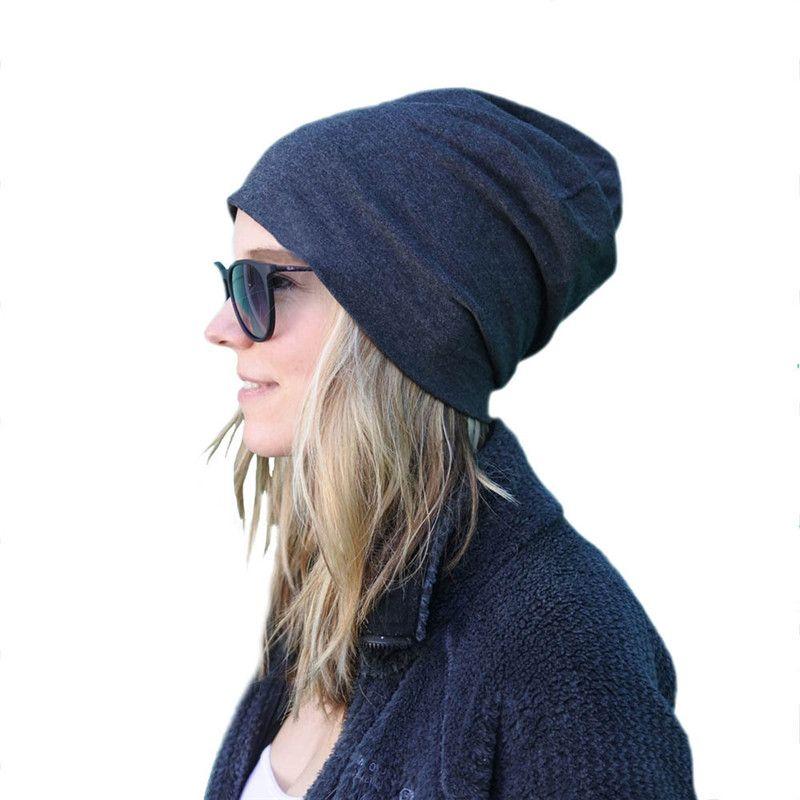 2018 Moda 20 colores Unisex de punto sombreros invierno cálido esquí Crochet Hat Slouch Punk mujeres hombres algodón Skullies mezclas Beanie Gorras