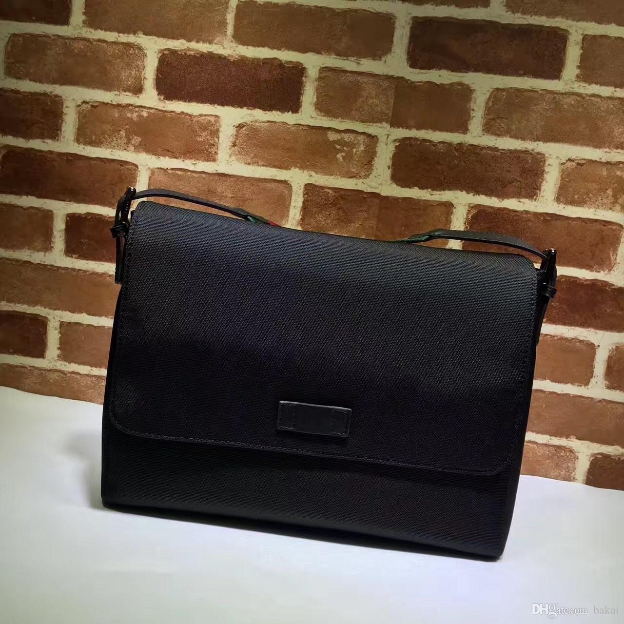 Heißer verkauf der berühmten modemarke männer mail taschen hochwertige schwarze leinwand material verstellbare schulter aktentaschen abdeckung luxus taschen.