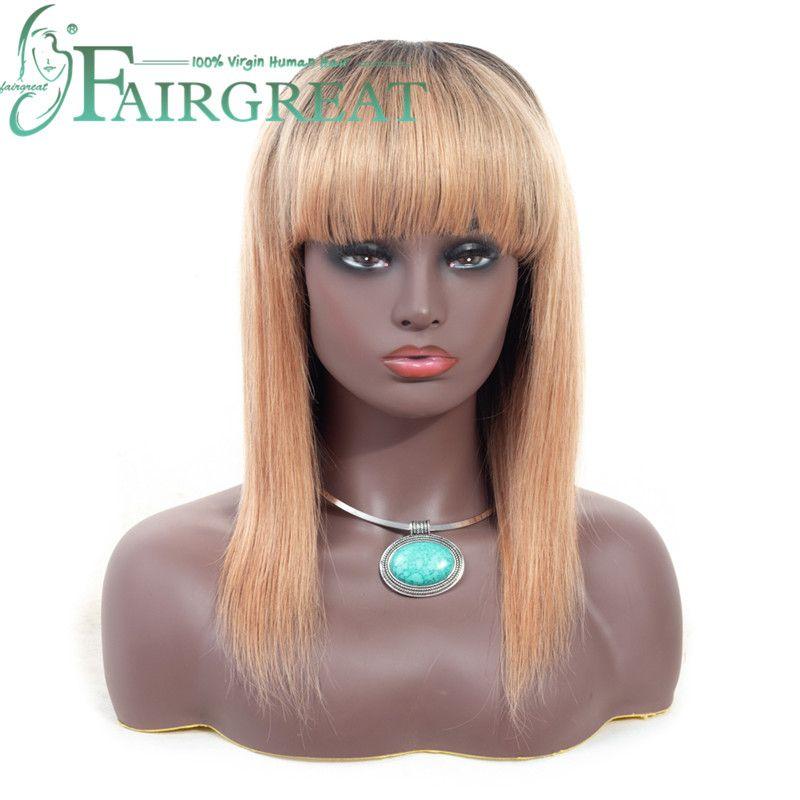 Brazilian/Indian/Mongolian Straight Human Hair Wigs with Baby Hair Brazilian Remy Human Hair Wigs For Women