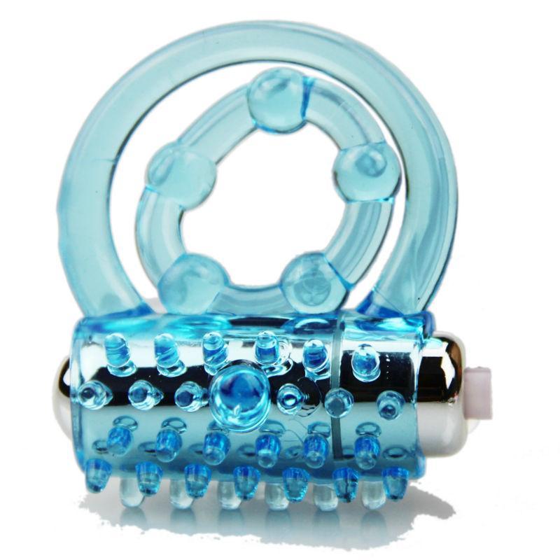 Uomini Ritardo colore Eiaculazione Anelli di vibratori Blocco Blocco Blocchi Bockring Giocattoli Collari Blue Due sesso Prodotto prematuro RGBGX