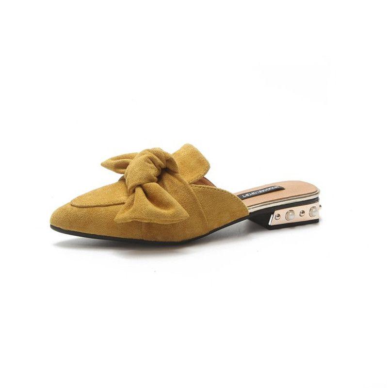 La maxpa ماركة 2018 الصيف القطن farbic المرأة واشار تو الشقق القوس التعادل الأحذية المسطحة نصف النعال الإناث البغال المتسكعون الأحذية